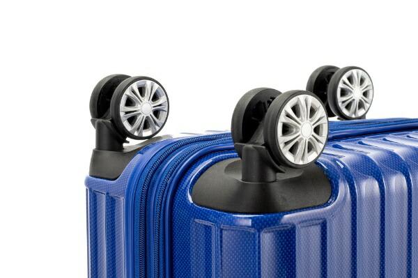 協和スーツケースTRAVERIST(トラベリスト)MOMENT(モーメント)ブラックヘアラインエンボス76-20295[35L]