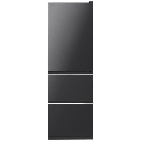 日立HITACHI《基本設置料金セット》R-V38KV-K冷蔵庫Vタイプブリリアントブラック[3ドア/右開きタイプ/375L][冷蔵庫大型RV38KV]【zero_emi】