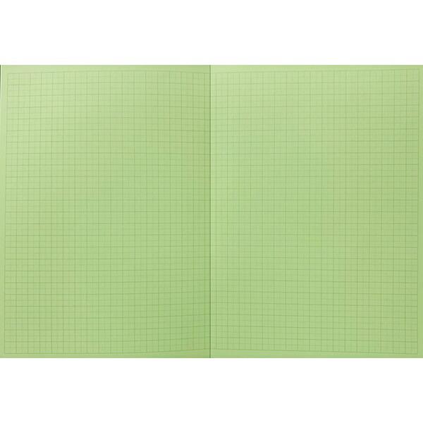 中村印刷所【目に優しいグリーンノート】水平開き方眼ノート[用紙色:ミドリ/B55mm30枚]40027