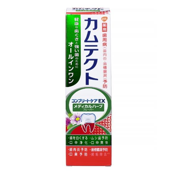 アース製薬Earthカムテクト歯磨き粉コンプリートケアEXメディカルハーブフレーバー105g