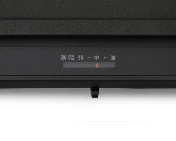 アイリスオーヤマIRISOHYAMAホットプレート左右温度調整2枚WHPK-012-Bブラック[WHPK012B]