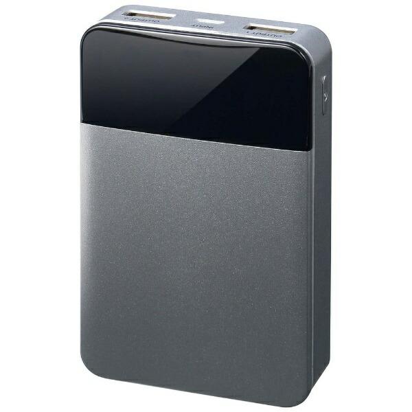 グリーンハウスGREENHOUSEモバイル充電器10000mAhシルバーGH-BTF100-SVシルバー[10000mAh/2ポート/充電タイプ]