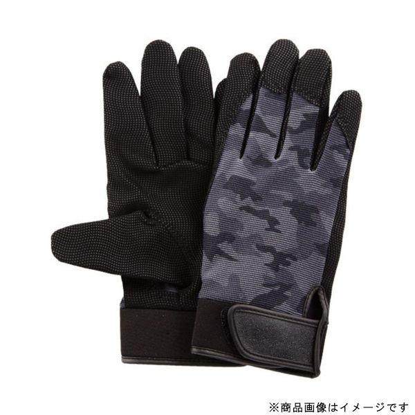 ユニワールドuniWORLD2520-M指先の巧作業手袋Mサイズ迷彩/ブラック