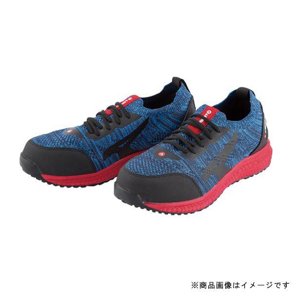 ユニワールドuniWORLDAW-730-265AIRWALKニットフィット安全靴6.5cmネイビー/レッド2