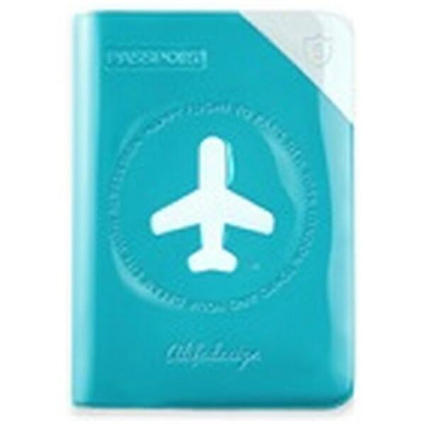 ALIFEパスポートカバーHAPPYFLIGHTSHIELDPASSPORCOVERスキミング防止機能付SNCF-122-4Cブルー
