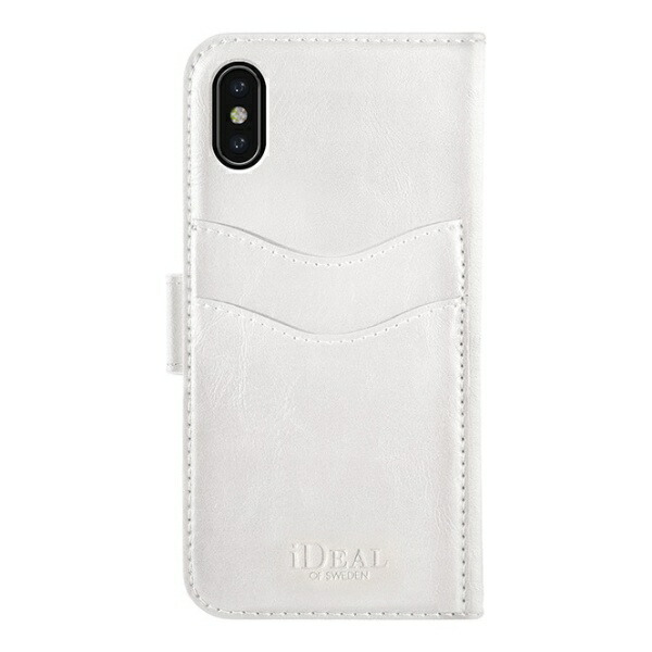 IDEALOFSWEDENアイディールオブスウェーデンiPhoneX/Xs用ウォレットケースホワイトIDMWP-I8-10