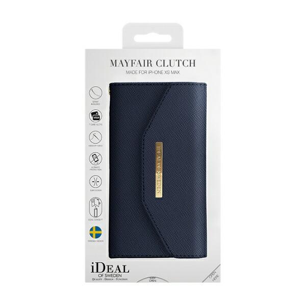 IDEALOFSWEDENアイディールオブスウェーデンiPhoneXsMax用ウォレットケースクラッチネイビーIDMC-I1865-50