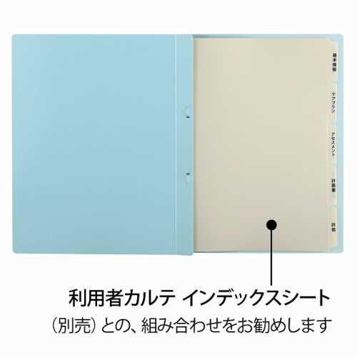 プラスPLUS利用者カルテフラットファイル10冊パックブルーFL-805FF