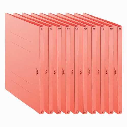プラスPLUS利用者カルテフラットファイル10冊パックピンクFL-805FF