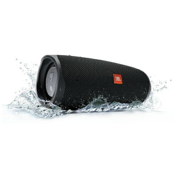 JBLジェイビーエルブルートゥーススピーカーJBLCHARGE4BLKブラック[Bluetooth対応/防水][JBLCHARGE4BLK]