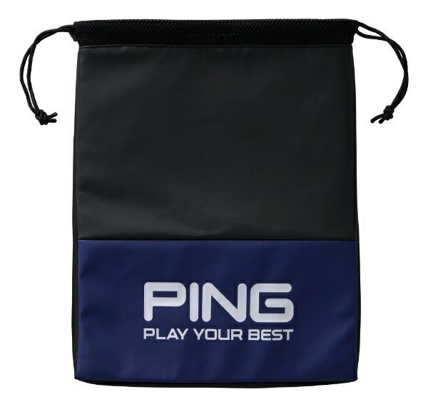 ピンPINGシューズバッグ(W29×H39×D2cm/ブルー)GB-U195