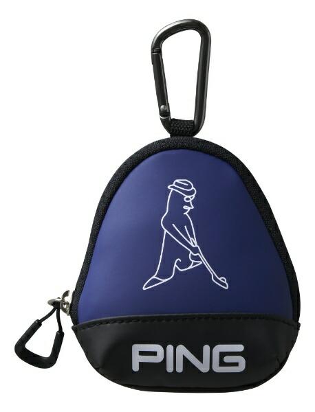 ピンPINGボールケース(W11×H13×D5cm3個収納可能/ブルー)GB-U196