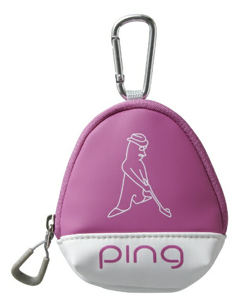 ピンPINGボールケース(W11×H13×D5cm3個収納可能/ピンク)GB-L196