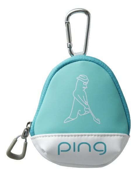 ピンPINGボールケース(W11×H13×D5cm3個収納可能/ミント)GB-L196