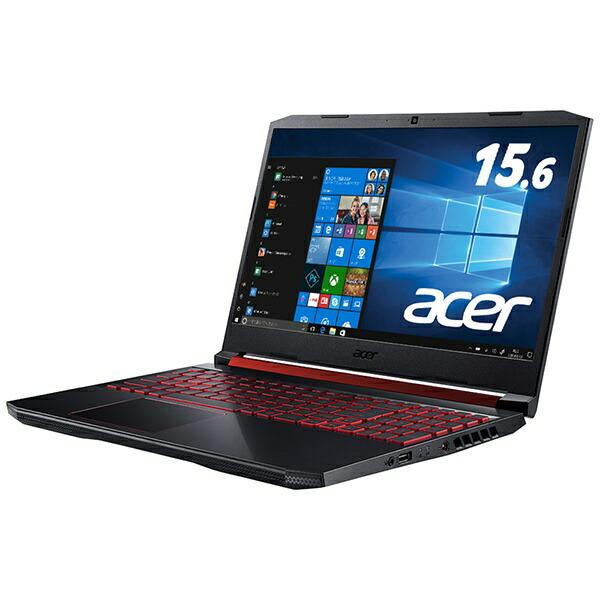ACERエイサーゲーミングノートパソコンNitro5オブシディアンブラックAN515-54-A76QG6[15.6型/intelCorei7/HDD:1TB/SSD:128GB/メモリ:16GB/2019年8月モデル][AN51554A76QG6]