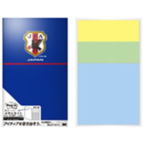 3Mジャパンスリーエムジャパン[付箋]限定ポスト・イットふせんセット(75x25mm/20枚x2パッド・75x75mm/20枚x1パッド)TECHO-Jサッカー日本代表チームモデル