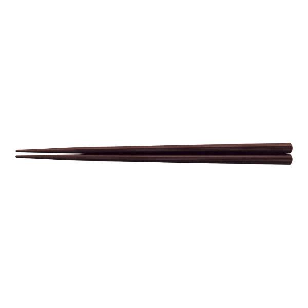 福井クラフトPBT樹脂製筋目六角箸(10膳入)エンジ22.5cm<RHSS704>[RHSS704]