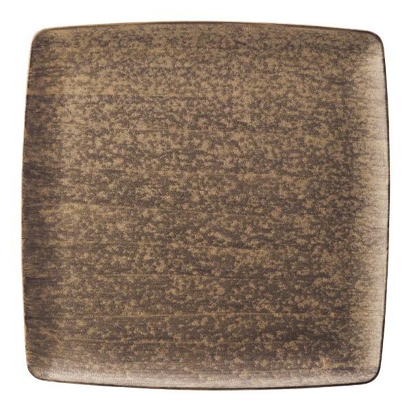 ミヤザキ食器MIYAZAKI崇雪正角皿ゴールド21.5cm<RSU1701>[RSU1701]
