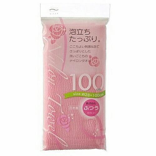 アイセンaisenナイロンタオル100cm普通ピンクBHN01ピンク