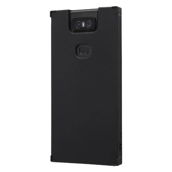 イングレムIngremZenFone6(ZS630KL)耐衝撃ソフトケースKAKU/ブラックIS-RAZ6TK1/Bブラック