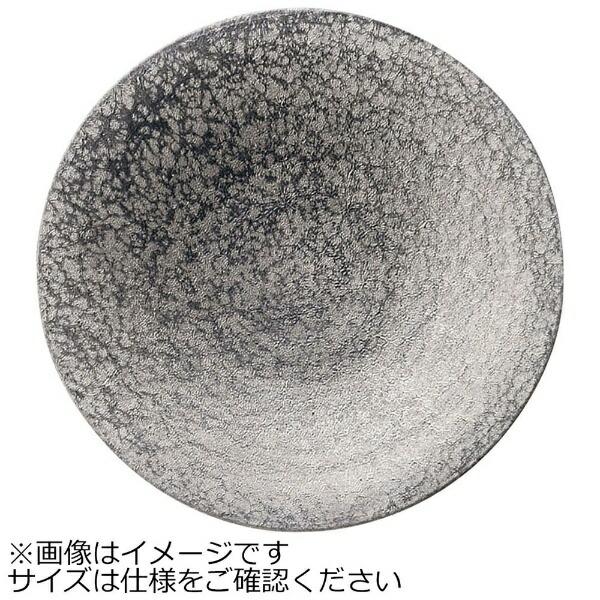 ミヤザキ食器MIYAZAKI崇雪ラウンドプレートシルバー20cm<RSU1202>[RSU1202]