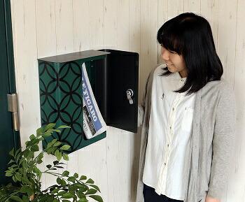 ヤマソロYAMASORO壁掛けポスト73-076縁