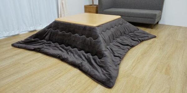 生毛工房UMOKOBO軽量あったかこたつ布団ブラウン[対応天板サイズ:75-80cm×75-80cm/正方形]