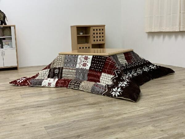 イケヒコIKEHIKO5545609こたつ布団ノーエチェレッド[対応天板サイズ:約80×80cm/正方形]