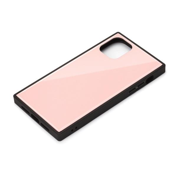PGAiPhone11Pro5.8インチ用ガラスハイブリッドケースピンクPG-19AGT03PK