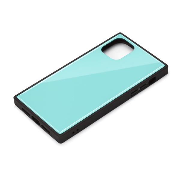 PGAiPhone11Pro5.8インチ用ガラスハイブリッドケースブルーPG-19AGT04BL