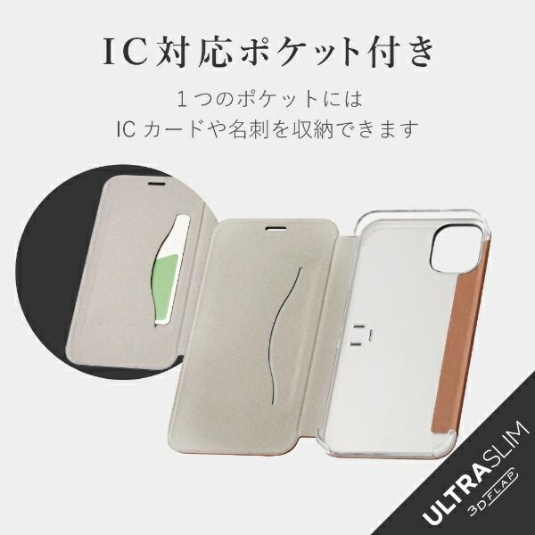 エレコムELECOMiPhone116.1インチ対応ソフトレザーケース三ツ折リ薄型ブラウンPM-A19CPLFUKBR