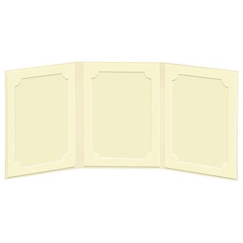 ハクバHAKUBAランスドゥ3面L縦(タテ)クリームMRCDO-LT3CR[タテ/E・Lサイズ/3面]