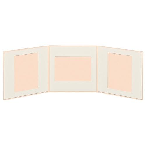 ハクバHAKUBAペーパースクウェア台紙No.1770L3面ピンクM1770-L-3PK[タテヨコ兼用/E・Lサイズ/3面]