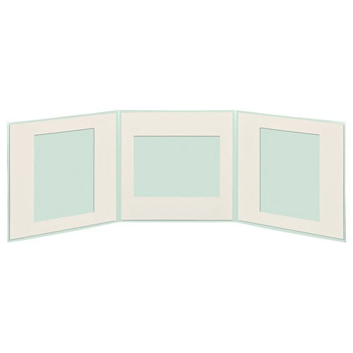 ハクバHAKUBAペーパースクウェア台紙No.17706切3面ブルーM1770-6-3BL[タテヨコ兼用/六切サイズ/3面]