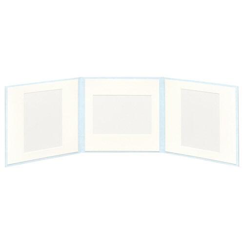 ハクバHAKUBAスクウェア台紙No.20202L3面アクアM2020-2L-3AQ[タテヨコ兼用/2Lサイズ・キャビネサイズ/3面]