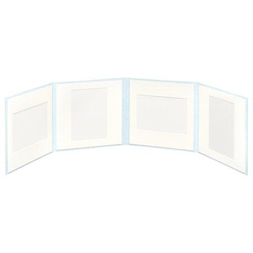 ハクバHAKUBAスクウェア台紙No.20202L4面アクアM2020-2L-4AQ[タテヨコ兼用/2Lサイズ・キャビネサイズ/4面]