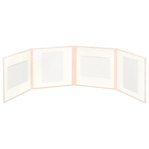 ハクバHAKUBAスクウェア台紙No.20202L4面ピンクM2020-2L-4PK[タテヨコ兼用/2Lサイズ・キャビネサイズ/4面]