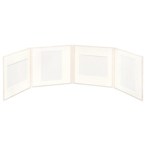 ハクバHAKUBAスクウェア台紙No.20202L4面ホワイトM2020-2L-4WT[タテヨコ兼用/2Lサイズ・キャビネサイズ/4面]