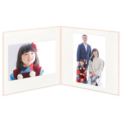 ハクバHAKUBAスクウェア台紙No.2020A42面ピンクM2020-A4-2PK[タテヨコ兼用/A4サイズ/2面]