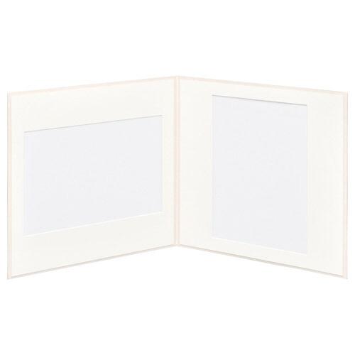 ハクバHAKUBAスクウェア台紙No.2020A42面ホワイトM2020-A4-2WT[タテヨコ兼用/A4サイズ/2面]