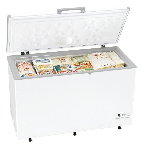 ハイアールHaier《基本設置料金セット》JF-MNC429A冷凍庫ホワイト[1ドア/上開き/429L][JFMNC429A_W]