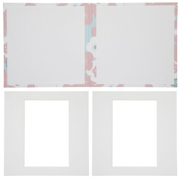 チクマChikuma寿写真台紙V-700(寿)6切2面ピンク15543-0ピンク[タテヨコ兼用/六切サイズ/2面]