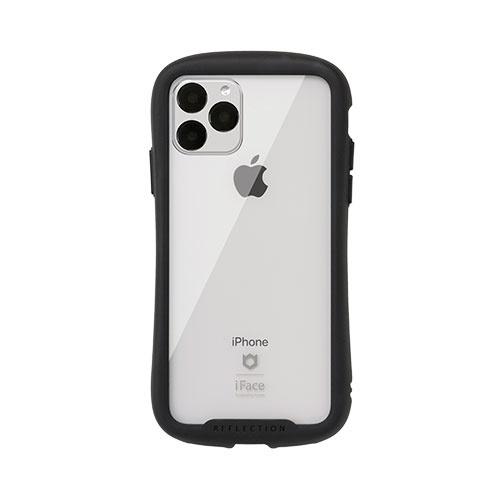 HAMEEハミィiPhone11Pro5.8インチiFaceReflection強化ガラスクリアケース41-907306ブラック