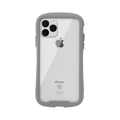 HAMEEハミィiPhone11Pro5.8インチiFaceReflection強化ガラスクリアケース41-907313グレー