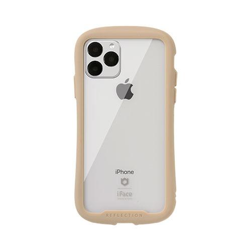 HAMEEハミィiPhone11Pro5.8インチiFaceReflection強化ガラスクリアケース41-907344ベージュ