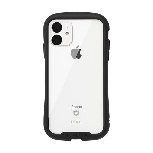 HAMEEハミィiPhone116.1インチiFaceReflection強化ガラスクリアケース41-907351ブラック