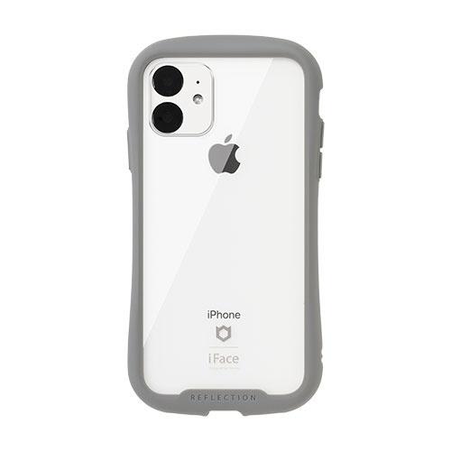 HAMEEハミィiPhone116.1インチiFaceReflection強化ガラスクリアケース41-907368グレー