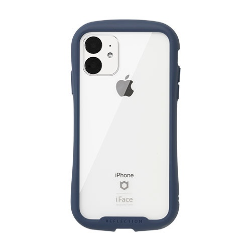HAMEEハミィiPhone116.1インチiFaceReflection強化ガラスクリアケース41-907375ネイビー