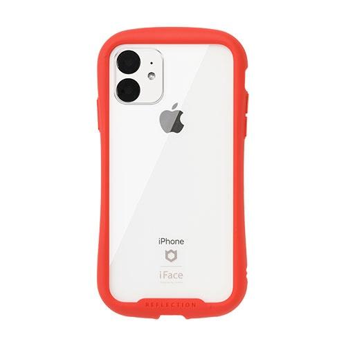 HAMEEハミィiPhone116.1インチiFaceReflection強化ガラスクリアケース41-907382レッド