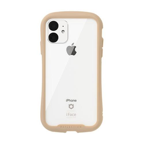 HAMEEハミィiPhone116.1インチiFaceReflection強化ガラスクリアケース41-907399ベージュ